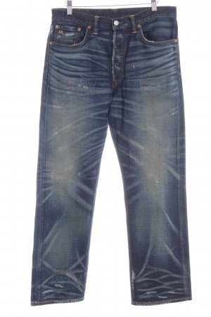 Ralph Lauren Straight-Leg Jeans dunkelblau-graugrün Farbtupfermuster
