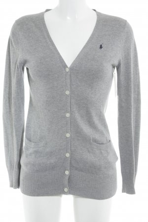 Ralph Lauren Knitted Cardigan grey flecked casual look