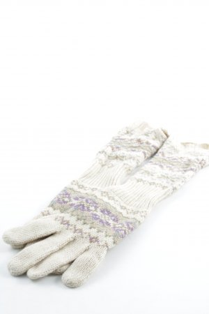 Ralph Lauren Knitted Gloves abstract pattern casual look