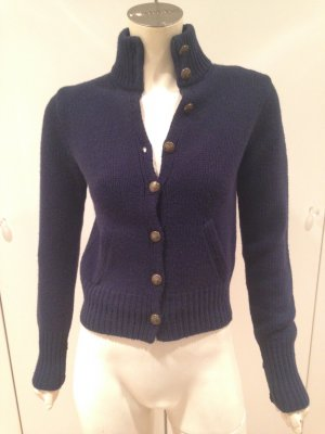 Ralph Lauren Strickjacke Blau Kaschmir Wolle Cardigan Blue Cashmere Wool XS TOP