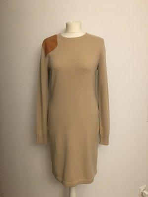 Ralph Lauren Strickkleid aus 100% Cashmere mit Lederdetail, neu