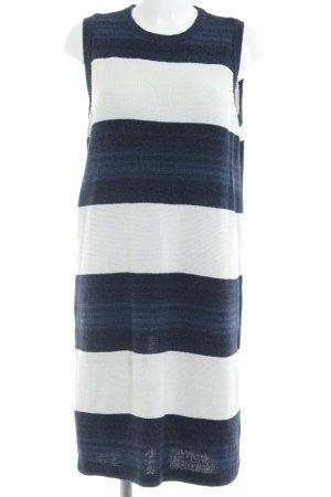 Ralph Lauren Strickkleid dunkelblau-wollweiß Streifenmuster Casual-Look