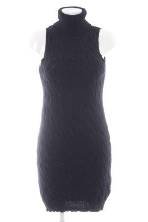 Ralph Lauren Strickkleid dunkelblau Zopfmuster Casual-Look