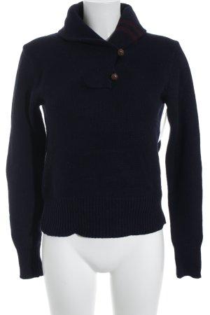 Ralph Lauren Jersey de punto azul oscuro-burdeos look casual