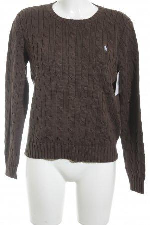 Ralph Lauren Knitted Sweater dark brown casual look