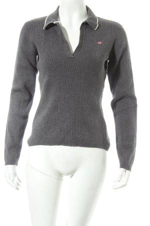 finest selection 0ad7b 4ef7b Ralph Lauren Maglione lavorato a maglia grigio scuro stile casual