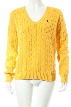 Ralph Lauren Strickpullover gelb Zopfmuster Street-Fashion-Look