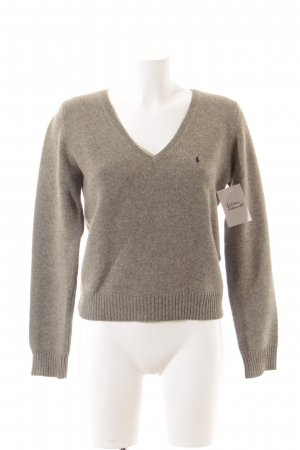 Ralph Lauren Knitted Sweater grey flecked casual look