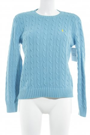 Ralph Lauren Knitted Sweater neon blue classic style