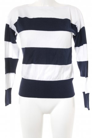 Ralph Lauren Knitted Sweater white-dark blue striped pattern casual look