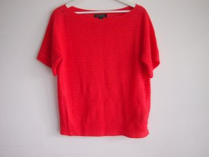 Lauren by Ralph Lauren Coarse Knitted Sweater neon pink-neon orange linen