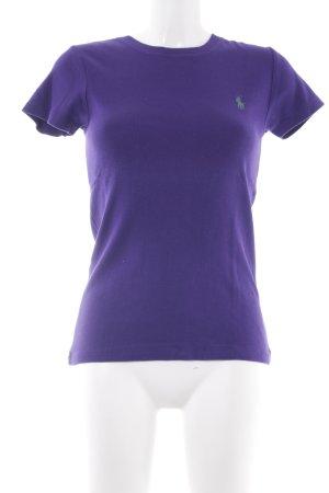 Ralph Lauren Camisa tejida violeta oscuro look casual