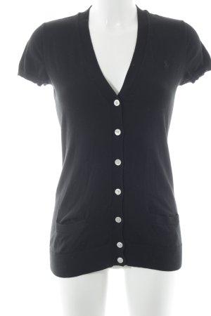 Ralph Lauren Camisa tejida negro-crema look casual