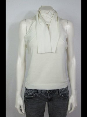RALPH LAUREN STRICKTOP GR. L WOLLWEISS