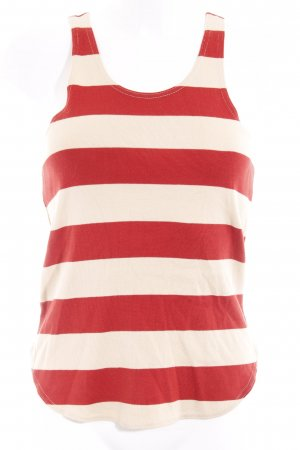 Ralph Lauren Knitted Top oatmeal-brick red striped pattern simple style
