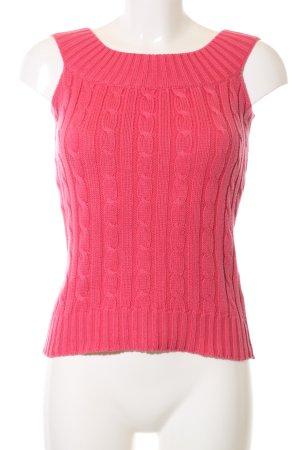 Ralph Lauren Top lavorato a maglia rosa punto treccia stile professionale