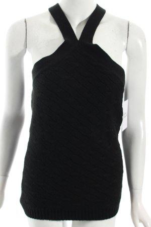 Ralph Lauren Stricktop schwarz Zopfmuster extravaganter Stil