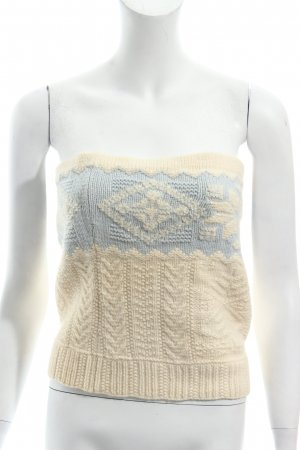Ralph Lauren Knitted Top natural white-azure Sequin ornaments