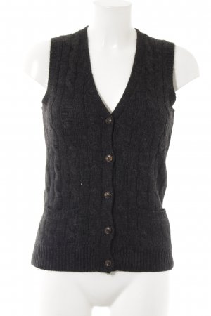 Ralph Lauren Knitted Vest black cable stitch casual look