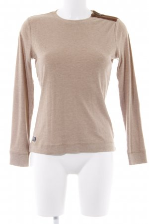 Ralph Lauren Sweat Shirt beige flecked classic style