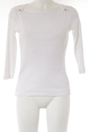 Ralph Lauren Sweatshirt weiß-goldfarben Webmuster Casual-Look