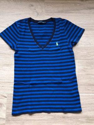 Lauren by Ralph Lauren Gestreept shirt blauw-neon blauw