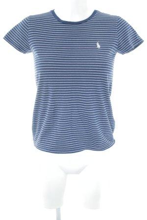 Ralph Lauren T-Shirt dunkelblau Streifenmuster Casual-Look