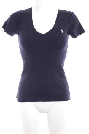 Ralph Lauren T-Shirt dunkelblau-weiß Casual-Look