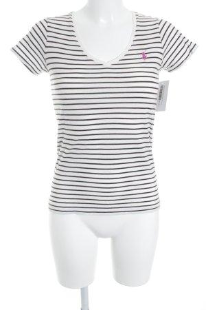 Ralph Lauren T-Shirt dunkelbraun-creme Streifenmuster Casual-Look