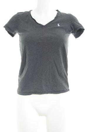 Ralph Lauren T-Shirt dunkelgrau meliert Casual-Look