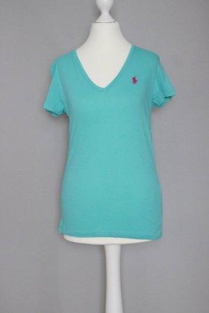 Ralph Lauren T-Shirt Gr. S mit V-Ausschnitt mint türkis