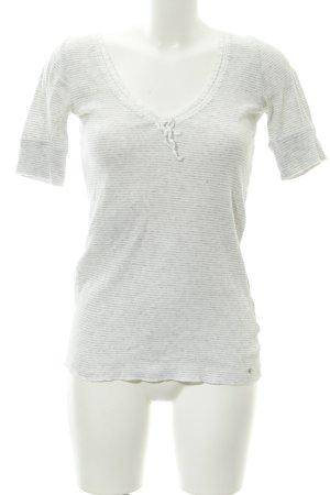 Ralph Lauren T-Shirt hellgrau-weiß Streifenmuster Casual-Look