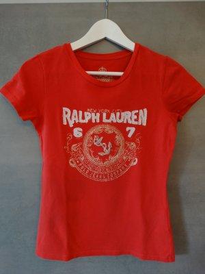 Ralph Lauren T-Shirt in Rot mit tollem Druck