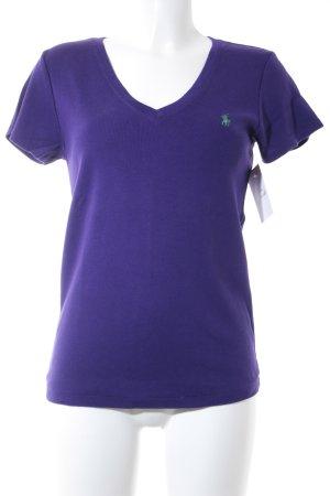 Ralph Lauren T-Shirt lila-grasgrün Casual-Look
