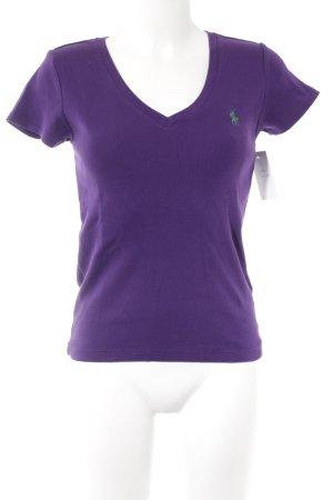 Ralph Lauren T-Shirt lila-waldgrün Casual-Look