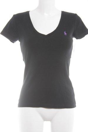 Ralph Lauren T-Shirt schwarz-flieder Casual-Look