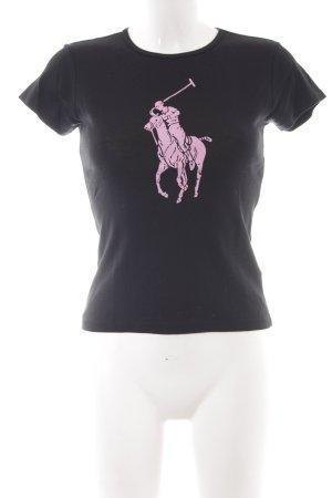 Ralph Lauren T-Shirt black monogram pattern simple style