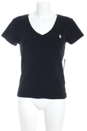 Ralph Lauren T-Shirt schwarz-wollweiß sportlicher Stil