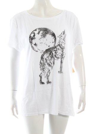 Ralph Lauren T-Shirt weiß-schwarz Motivdruck schlichter Stil