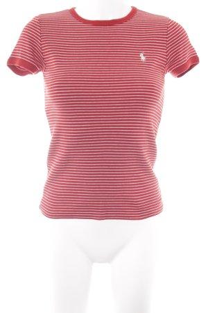 Ralph Lauren T-Shirt wollweiß-ziegelrot Ringelmuster Casual-Look