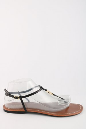 Ralph Lauren T-Steg-Sandaletten schwarz Casual-Look