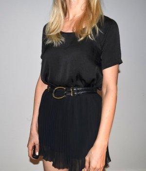 Ralph Lauren Taillengürtel schwarz mit goldener schnalle