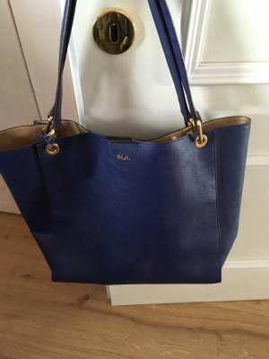 Lauren by Ralph Lauren Bowling Bag blue imitation leather