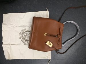 Ralph Lauren Crossbody bag brown-gold-colored leather