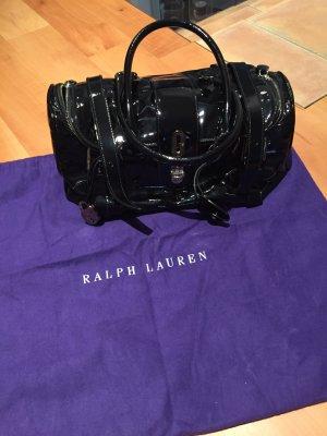 Ralph Lauren Tasche schwarz Lack neu