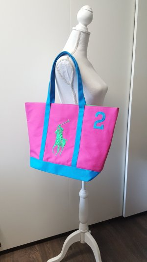 Ralph Lauren Tasche/Shopper Big Pony pink/blau/grün