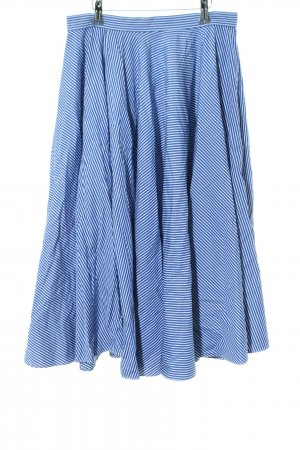 Ralph Lauren Circle Skirt blue-white striped pattern casual look
