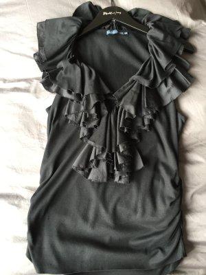 Ralph Lauren Volanten top zwart Textielvezel