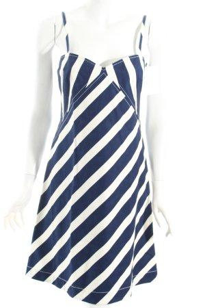 Ralph Lauren Trägerkleid weiß-dunkelblau Streifenmuster Beach-Look