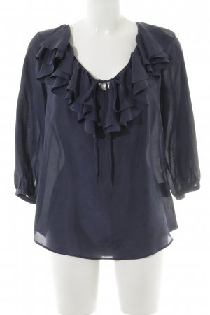 Ralph Lauren Transparante blouse donkerblauw casual uitstraling